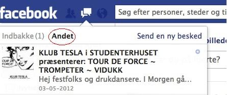 Facebook-andet-indbakke